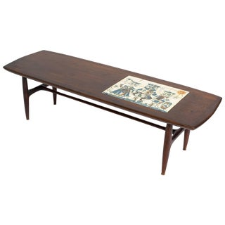 Alvin Hollingsworth Tile Top Teak Coffee Table For Sale