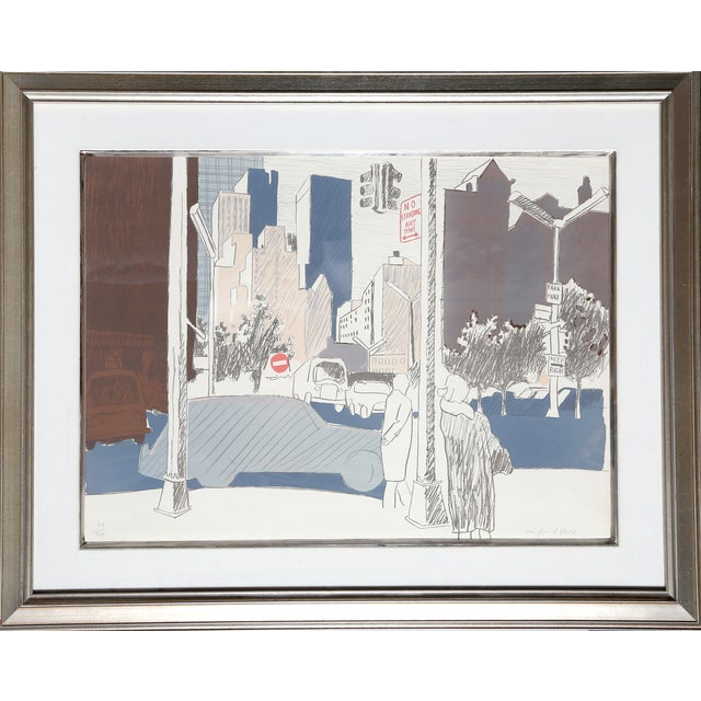 """NYC"" Lithograph by Fairfield Porter - Image 1 of 2"