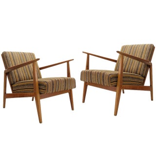 1950's Vintage Danish Lounge Chairs- A Pair For Sale