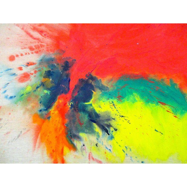 Abstract Large 1970s Original Signed Rita Schwartz Abstract Painting For Sale - Image 3 of 3