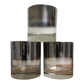 Silver Fade Lowball Glasses - Set of 3