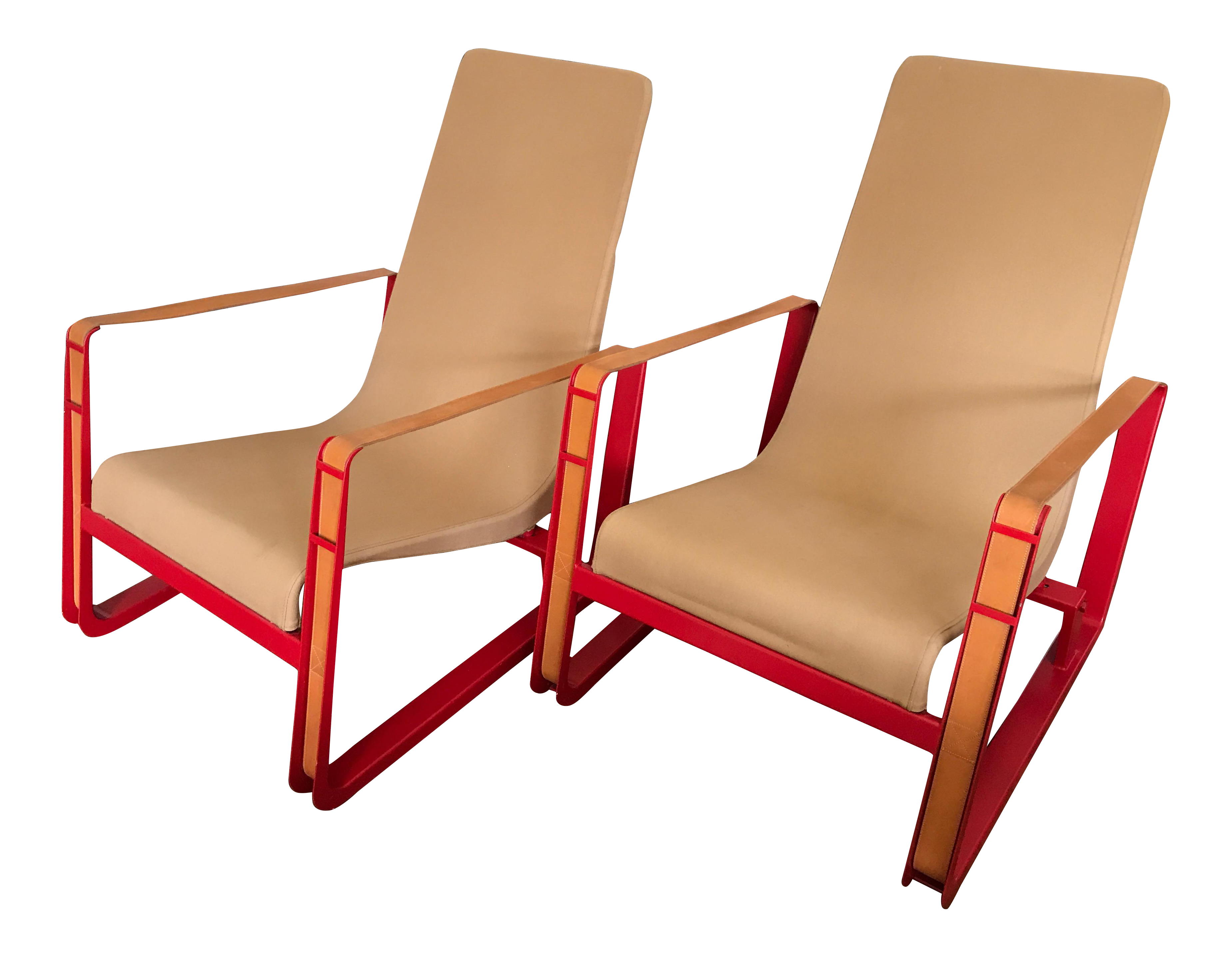 Jean Prouve For Vitra Cite Lounge Chair With Steel Frame