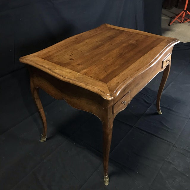 Brown 19th Century Antique Walnut Game or Side Table For Sale - Image 8 of 12