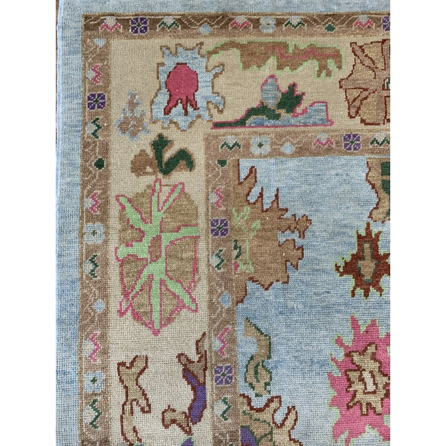 2010s Contemporary Turkish Oushak Rug - 9′4″ × 13′3″, Pastel For Sale - Image 5 of 13