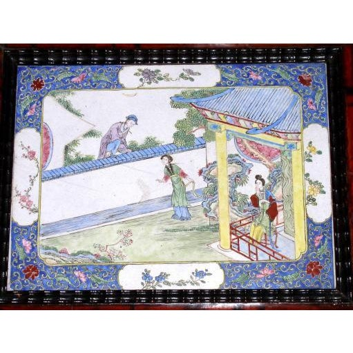 18th Century Canton Enamel Plaques - Set of 4 For Sale - Image 4 of 6