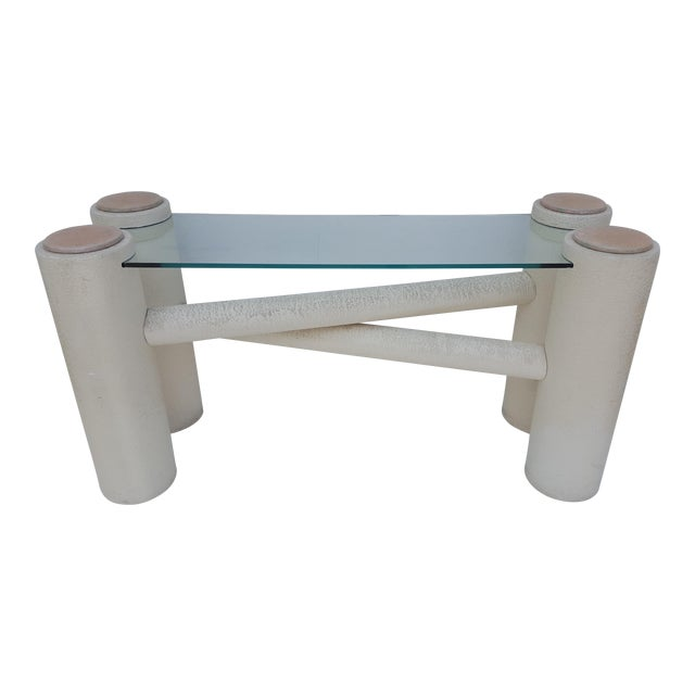 Vintage Sculptural -X- Form Base Console Table For Sale