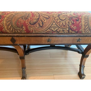 19th Century Upholstered Carved Bench Preview