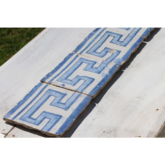 18th Century Greek Style Baroque Tiles - Set of 4 For Sale - Image 6 of 13