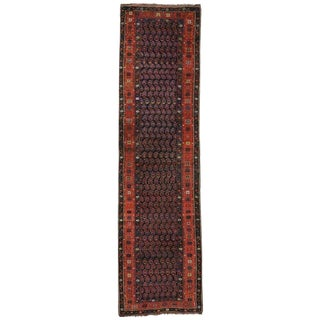 Early 20th Century Antique Persian Kurdish Runner- 3′6″ × 13′2″ For Sale