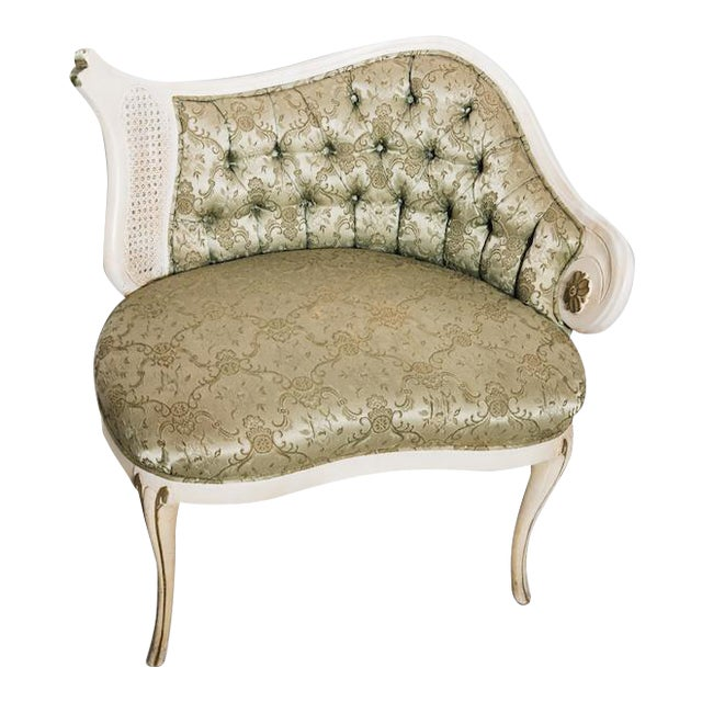 Rococo Revival Tufted Chair For Sale