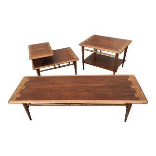 1960s Mid-Century Modern Lane Acclaim Tables - Set of 3 For Sale