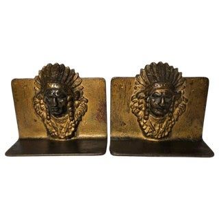 1950s Native American Chief Bookends - a Pair For Sale