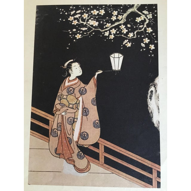 Paper Suzuki Harunobu ( 1725 - 1770 ) Japanese Woodblock Print For Sale - Image 7 of 13