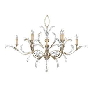 Fine Art Lamps Beveled Arcs 8-Light Silver Chandelier For Sale