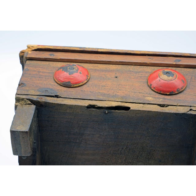19th Century Antique Afghan Wood Spice Box For Sale - Image 10 of 13