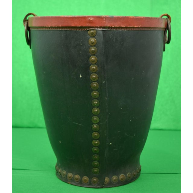 d927e63ecfd Brooks Brothers Leather Bucket W  Armorial Crest For Sale - Image 4 of 8