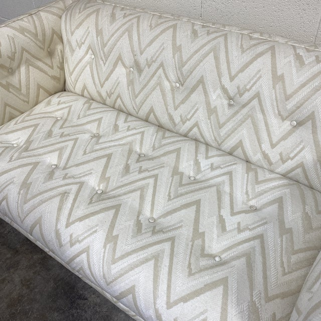 Antique White 70s Contemporary Loveseats - a Pair For Sale - Image 8 of 13
