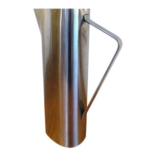 1960s Danish Modern Dkf Lundtofte Stainless Steel Pitcher For Sale