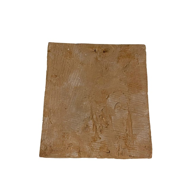 Vintage Clay Tile With Carved Castle For Sale - Image 4 of 5