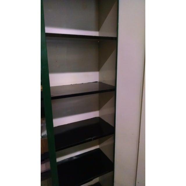 1970s Vintage Metal Industrial Storage Locker For Sale - Image 5 of 8