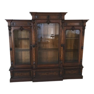 19th Century Victorian Bookcase/Display Cabinet For Sale