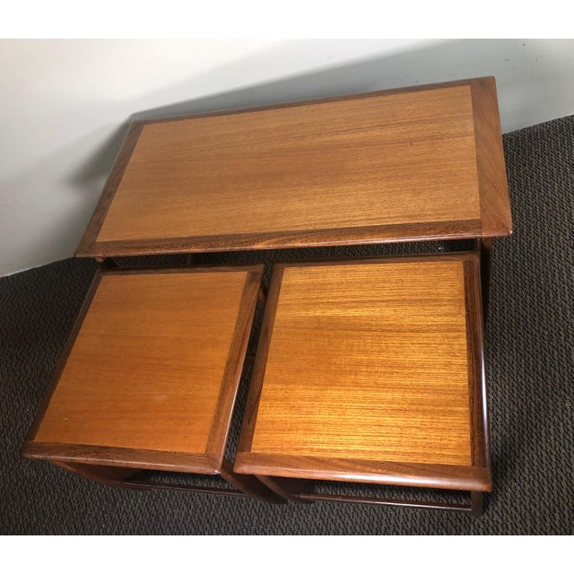 G Plan Mid Century Teak Coffee and Nesting Table Set by G Plan For Sale - Image 4 of 13