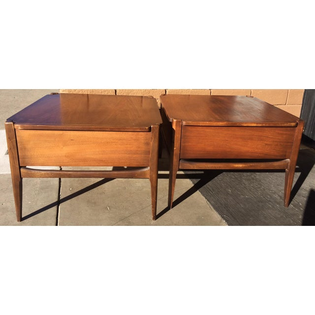 1960s 1960s Vintage Basset Walnut End Tables-a Pair For Sale - Image 5 of 9