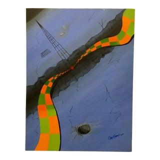 Omar Garcia Surreal Landscape Painting For Sale