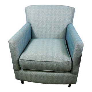 Bassett Teal-Green Accent Chair For Sale
