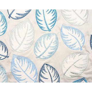 Hinson for the House of Scalamandre Palmer Fabric in Blue For Sale