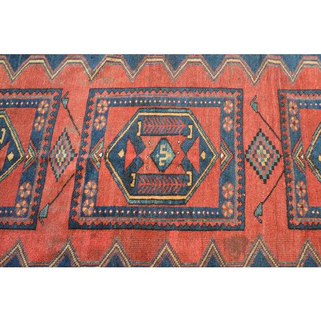 Blue Antique Persian Kelardasht Rug Runner - 4′3″ × 8′6″ For Sale - Image 8 of 10