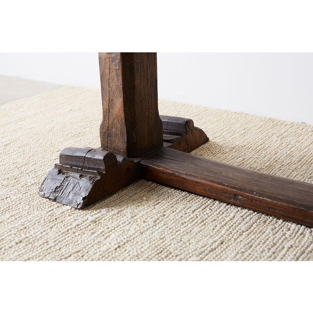 Rustic Italian Baroque Refectory Trestle Table For Sale - Image 10 of 13