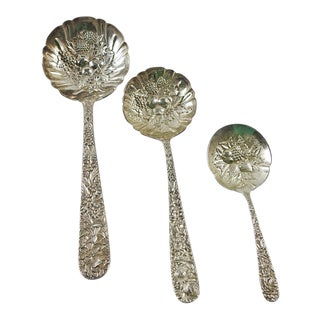 Kirk & Son Sterling Silver Berry or Serving Spoons - Set of 3