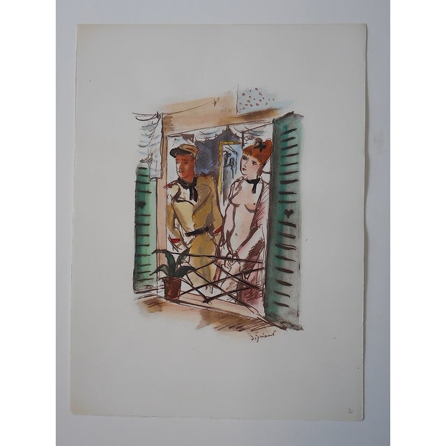 Dignimont Mid 20th C. Lithograph - Image 3 of 4