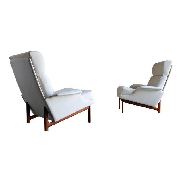 "Ib Kofod-Larsen ""Adam"" Lounge Chairs for Mogens Kold Møbelfabrik Circa 1960 - a Pair For Sale"