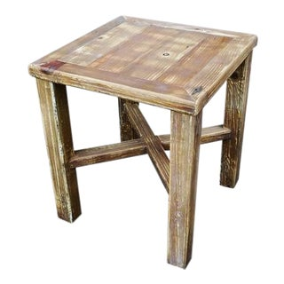 Darvo Reclaimed Rustic Wood Side Table