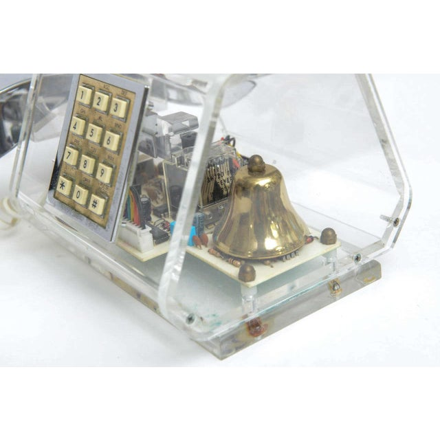 Transparent Mid-Century TeleConcepts Chrome & Lucite Phone For Sale - Image 8 of 10
