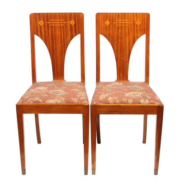 1930s Art Deco Jugend Chairs - A Pair - Image 1 of 3