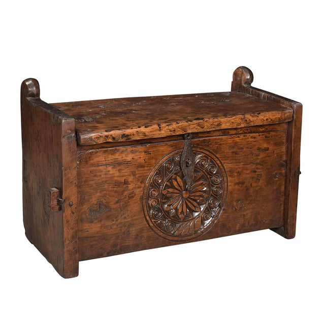 Boho Chic Antique Carved Tribal Box For Sale - Image 3 of 3