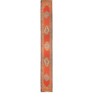 Antique Persian Bakshayesh Runner-3′4″ × 17′3″ For Sale