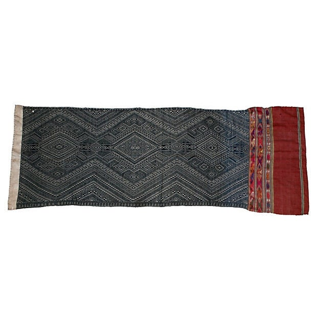 Indigo Dyed Tribal Laotian Textile - Image 3 of 3