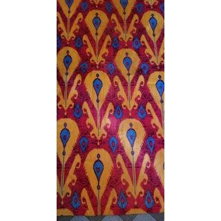 7 Yards Vibrant Ikat Cotton Velvet Fabric Preview