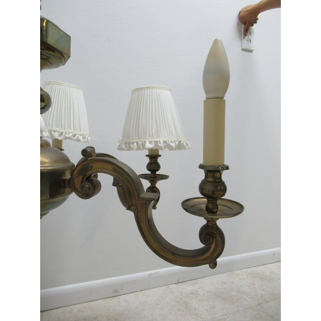 1974 Vintage Chapman Brass French Monumental Chandeliers - a Pair For Sale - Image 12 of 13