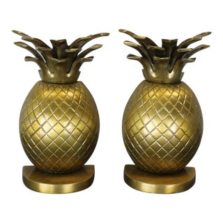 Pair of Metal Pineapple Bookends
