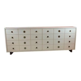 1960's Tommi Parzinger Originals Mid-Century Modern White Dresser For Sale