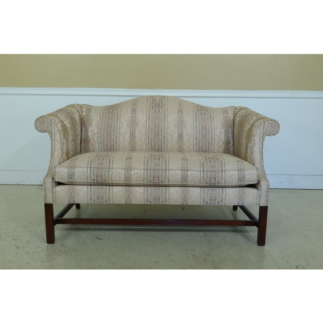 Southwood Chippendale Mahogany Loveseat For Sale - Image 13 of 13