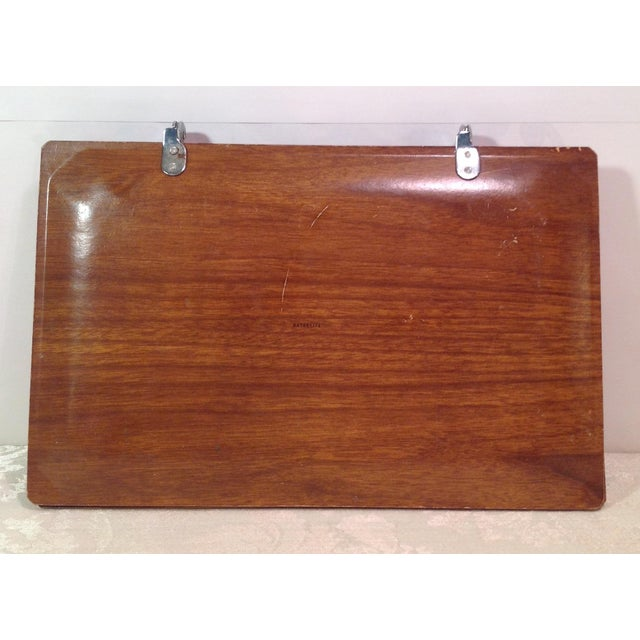 Mid-Century Modern Vintage Folding Serving Tray - Image 8 of 10