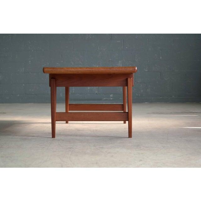 Illum Wikkelsø Danish Midcentury Coffee Table in Solid Teak by Illum Wikkelsø For Sale - Image 4 of 6