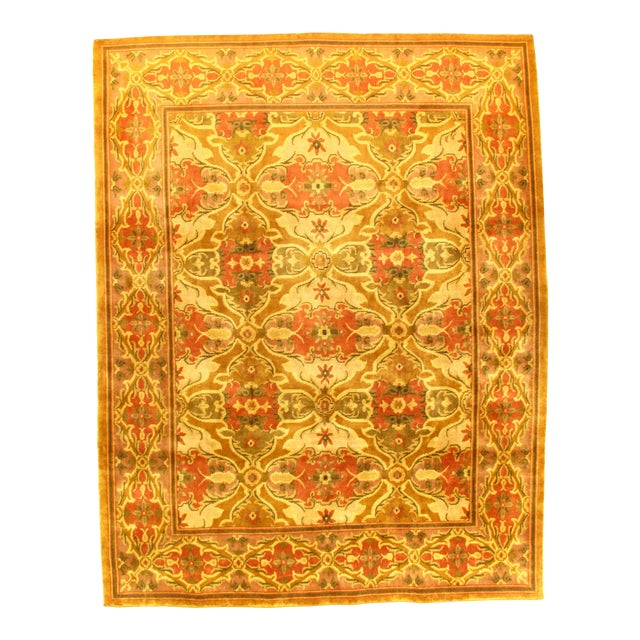 "Indo Amristar Design Rug - 7'11"" X 10'2"" For Sale"