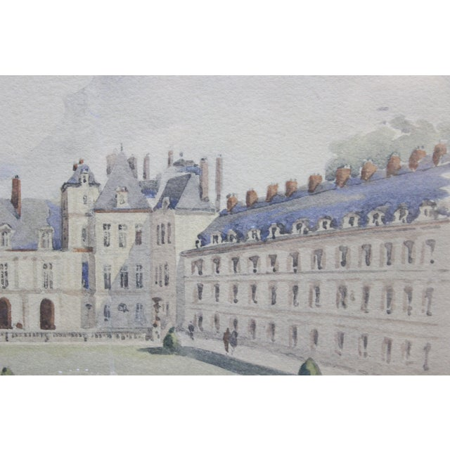 Palais Gardens, Watercolor Painting For Sale - Image 4 of 4